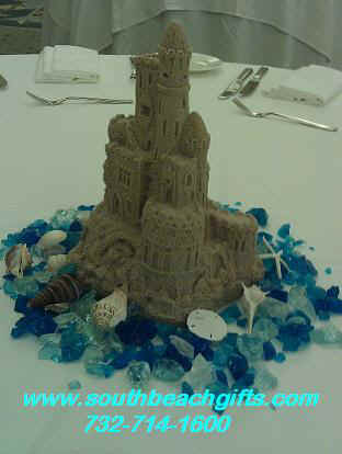 BeachThemePartyCenterpieces-wedding-birthday-SandCastle11inchcastle.JPG (21099 bytes)