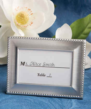 Set of 15 PEARL FRAMES Frame Mini Table Numbers Chalkboard or Glass Photo Picture Jeweled Vintage Style Glam Favors Placecards Seating Name