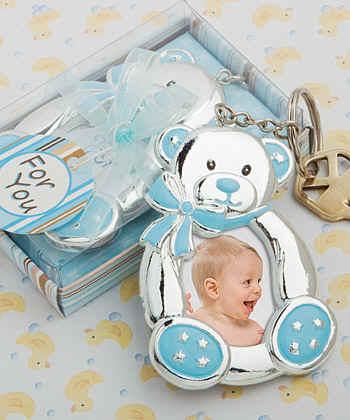 SILVER BABY FRAME boy girl rocking horse teddy bear new baby shower Christening